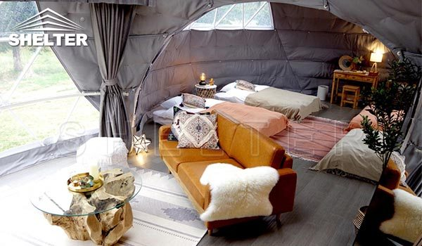 4 man dome tent-glamping doem-geodesic dome-Shelter Dome-Shelter Domos (2)