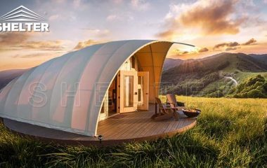 cocoon house glamping tent for sale-autonomous tent house for luxury camping-eco living dome tents-glitzcamp (1)