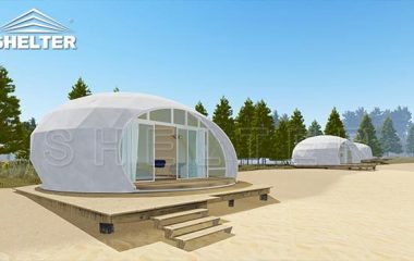 glamping pod house for sale-waterdrop dome pod for luxury resorts-eco living dome tent-glitzcamp (1)
