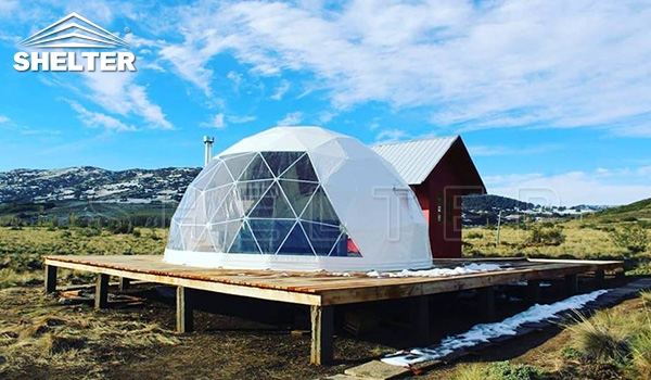 travel glamping dome geodesic igloo landscape dome