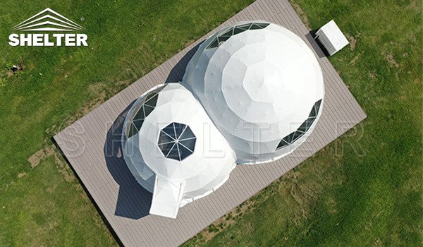 camping dome- living dome- adjoined dome tent